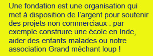 explication du mot fondation