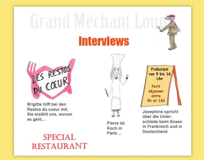 frankreich f r kinder restaurant interviews kinderreporter b ser wolf. Black Bedroom Furniture Sets. Home Design Ideas